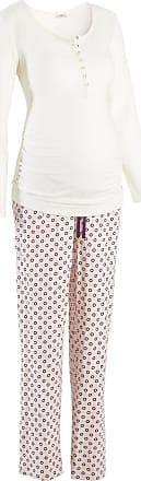 bpc Bonprix Collection Dam Amningspyjamas i vit lång ärm - bpc bonprix  collection - Nice Size ebe8bb7373a0b