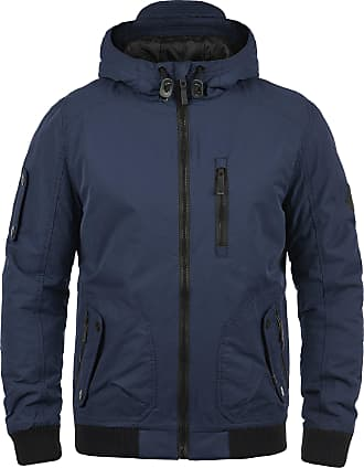 Blend Blend Marc mens winter bomber jacket with hood made of high quality material - Blue - 44