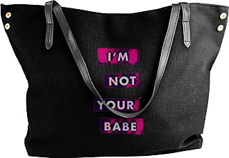 Juju Im Not Your Babe Womens Classic Shoulder Portable Big Tote Handbag Work Canvas Bags