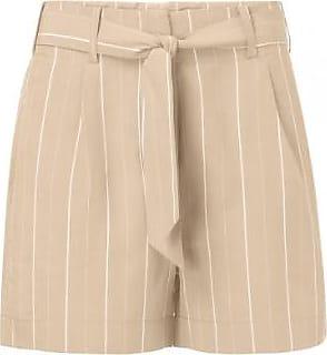 YaYa 123101 Taillen-Shorts aus Sandstreifen und Krawatte aus Papier - 32 - Brown/White