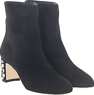Dolce   Gabbana Stiefeletten VALLY Veloursleder schwarz Absatz Kristalle 898ad470a2
