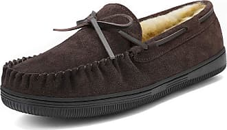 Dream Pairs Mens Fur-Loafer-01 Brown Suede Slippers Loafers Shoes Size 13 US/ 12 UK