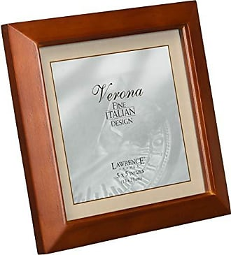 Lawrence Frames Estero Collection, Chestnut Wood 5 by 5 Picture Frame