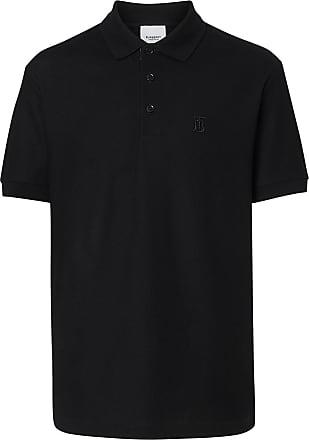 Burberry Camisa polo com aplicação monogramada - Preto