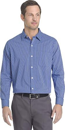 Van Heusen mensTraveler Stretch Long Sleeve Button Down Non Iron Shirt Long Sleeves Button-Down Shirt - Blue - XL