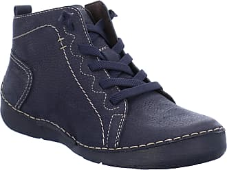 Josef Seibel Women Ankle Boots Fergey 86, Ladies Lace-up Ankle Boot, Boots,Chukka Boot,Half Boots,Lace Up,Bootie,Flat,Blue(Ocean),39 EU / 5.5 UK