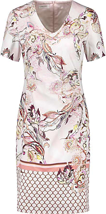 Gerry Weber Womens 380018-38301 Dress, Multicolour (Rosa/Tabak/Flamingo Dru 3107), 12 (Size: 38)