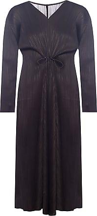 Issey Miyake Ruffled Dress Womens Black