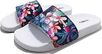 La Faire Chinelo Slide La Faire Pink Flowers Confort (39/40, Sola Branca)