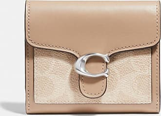 Coach Tabby Small Wallet In Colorblock Signature Canvas in Beige