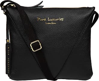 Pure Luxuries London Pure Luxuries London Lupita Womens 25cm Biodegradable Leather Cross Body Bag with Zip Over Top, Unlined Central Compartment and Adjustable Canvas Stra