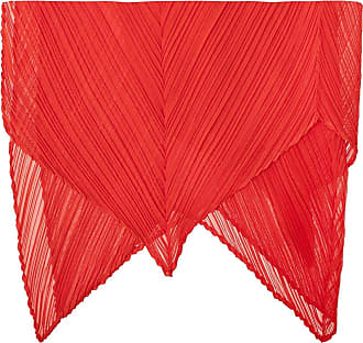 Issey Miyake Pleated Scarf Womens Red