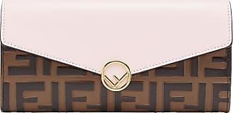 Fendi Carteira Zucca color block - Marrom