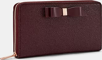 Ted Baker Bow Leather Matinee Purse in Oxblood AINE, Womens Accessories