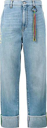 Mira Mikati Turn-up wide-leg denim jeans - Blue