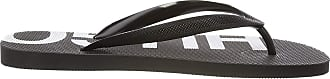 HUGO BOSS Mens Onfire_thng_rblg1 Flip Flops, Black (Black 001), 11/12 UK (45/46 EU)