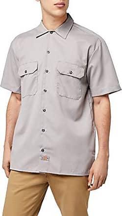 Dickies North Irwin Mens Regular Fit Short Manche Shirt Chemise charcoal grey gris