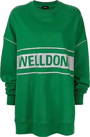 We11done Pullover mit Logo-Print - Grün