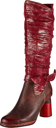 Laura Vita Womens Gucstoo 03 High Boots, (Rouge Rouge), 8 UK