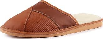 Ladeheid Mens Slippers House Shoes LAFA014 (Brown-2, 44 EU = 9.5 UK)