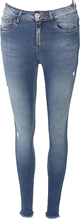 Malwee Calça Jeans Malwee Skinny Push Up Destroyed Azul