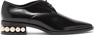 Nicholas Kirkwood Casati Pearl-heel Leather Derby Shoes - Womens - Black