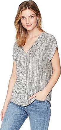 Three Dots Womens Eco Knit Short Loose Peasant Top