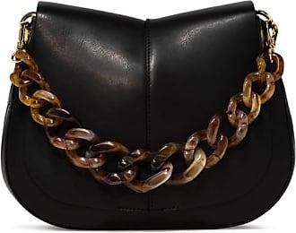 Gianni Chiarini medium size helena round resin shoulder bag color black