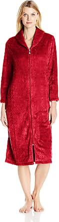 1X Solid Silver Karen Neuburger Womens Plus Size Long Sleeve Knit Robe