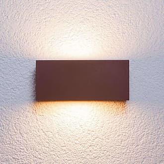 Lucande Aplique para exteriores Bente, marrón óxido