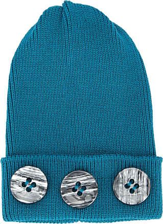 0711 button detail beanie - Blue