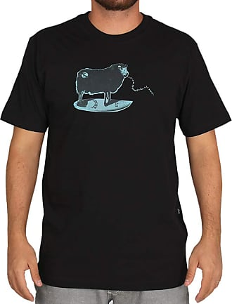 Lost Camiseta Lost Surfing Sheep - Preta - GG