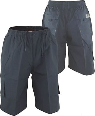 Duke London Duke Mens D555 Nick Cargo Shorts with Shaped Leg Pocket-Blue-3XL