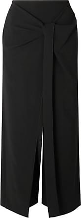 Roland Mouret Fenwick Knot-detail Draped Crepe Pants - Black