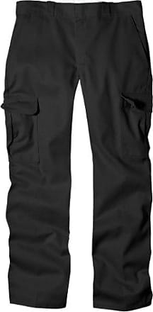 Dickies Mens Relaxed Straight-Fit Cargo Work Pant, Black 32 30