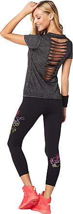 Zumba Sexy Active Wear Womens Dance Tops Workout Open Back Shirts for Women Black