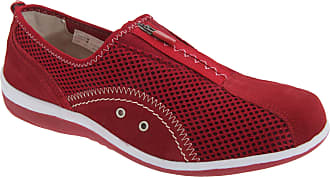 Boulevard Ladies Red Zip and Elastic Gusset Leisure Casual Shoe - Red - size UK Ladies Size 9