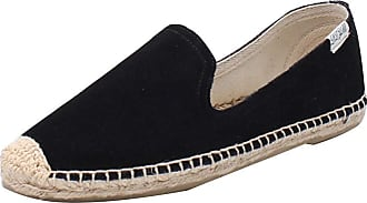 ICEGREY Womens Causal Loafer Flat Slip On Espadrille Black Suede UK 4.5