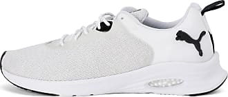 Puma Hybrid Fuego EvoKnit Mens Running Shoes, White/Glcr Grey/Pma Black, size 10.5, Shoes