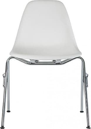 Vitra DSS-N Plastic Stacking Side Chair Chrome Base