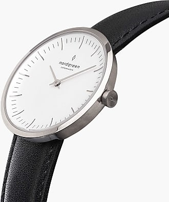 Nordgreen Infinity - Silver | Black Leather - 32mm / Silver
