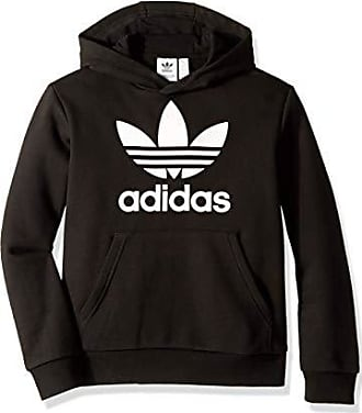 adidas Originals Kids Unisex Trefoil Hoodie Collegiate Burgundy//White X-Large Little Kids//Big Kids