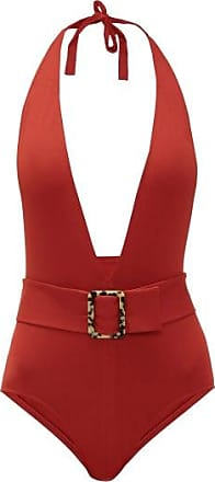 Eres Affairs Belted Halterneck Swimsuit - Womens - Red