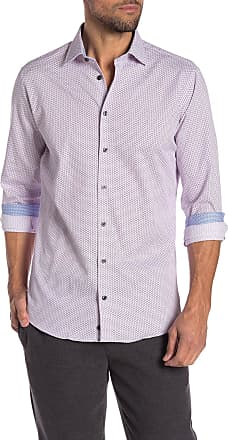 14th & Union Patterned Stretch Trim Fit Shirt