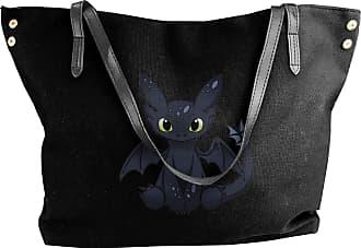 Juju My Second Toothless Womens Classic Shoulder Portable Big Tote Handbag Work Canvas Bags