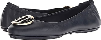 87c2008e6 Tory Burch Minnie Travel Ballet Flat (Ink Navy Gold) Womens Shoes