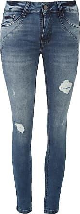 Sawary Calça Jeans Sawary Skinny Estonada Azul