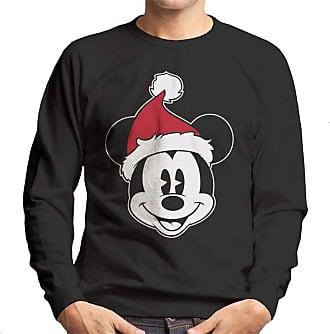 Disney Christmas Mickey Mouse Festive Hat Mens Sweatshirt Black
