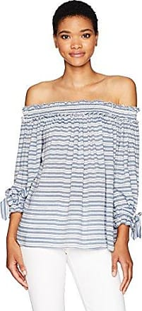 Max Studio Womens Short/ Cross Dye Off The Shoulder Shirting
