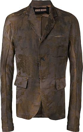 Uma Wang floral pattern blazer jacket - Brown